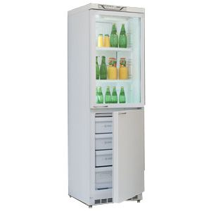Холодильная витрина Саратов 173 (КШМХ-335/125) белый (двухкамерный)