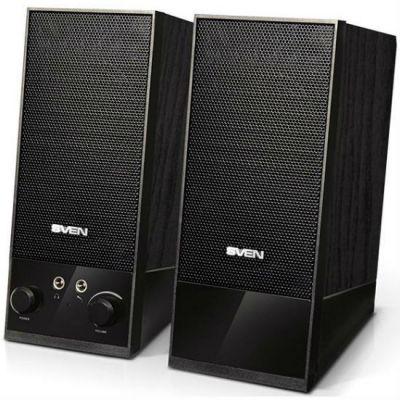 Колонки Sven SPS-604 2.0 черный 4Вт портативные SV-0120604BK