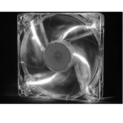 Вентилятор Deepcool корпусной 120x120x25 3pin 26dB 1300rpm 119g белый LED XFAN120L/W