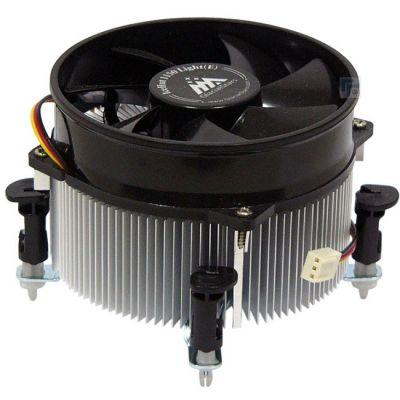 Кулер для процессора GlacialTech IceHut Light Soc-1150/1155/1156/ 3pin 25dB Al 87W 390g клипсы BULK CD-1150LEP0DB00S1