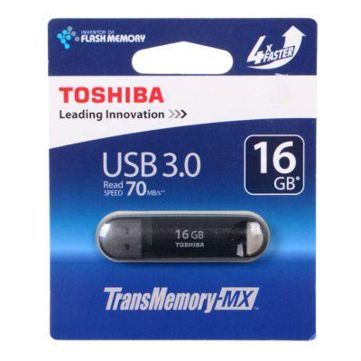 Флешка Toshiba 16GB USB Drive <USB 3.0> Suzaku black (THNV16SUZBLK(6)