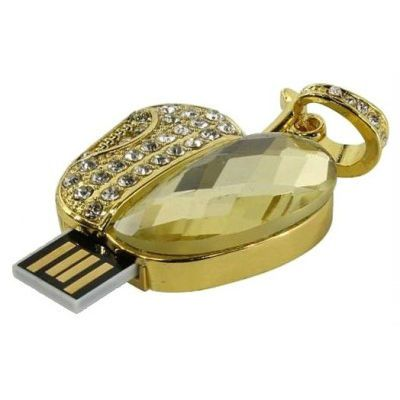Флешка Iconik 16GB USB Drive <USB 2.0> Яблоко Swarovski (MTFC-APPLE-16GB)