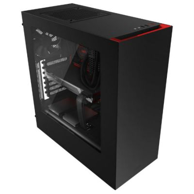 ������ NZXT S340 Black/red