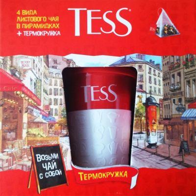 Чай TESS Набор чая и чайн.нап.с керам.термокружкой 4 вида пак.пирам.156г. 1081-05