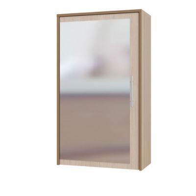 Зеркало Сокол для прихожей с местом для хранения ПЗ-5 (Ясень-шимо тёмный)