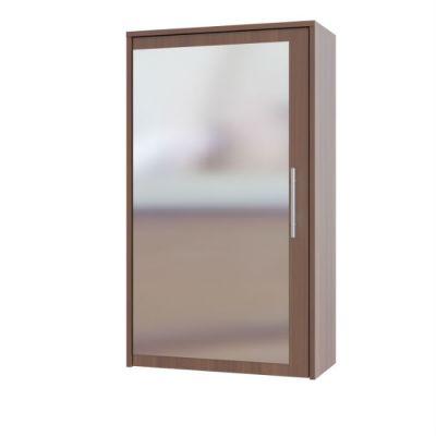 Зеркало Сокол для прихожей с местом для хранения ПЗ-5 (Испанский орех)