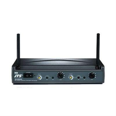Микрофон JTS приемник двухканальный US-8002D