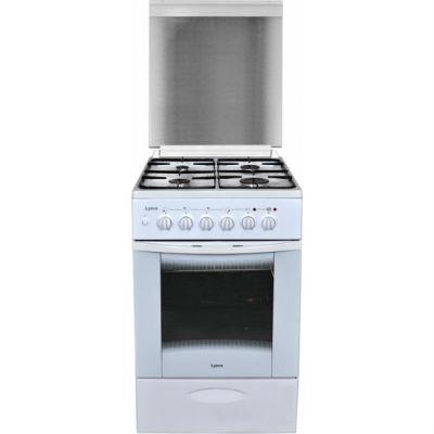 Комбинированная плита Лысьва ЭГ 1/3г01 МС-2у белая,стек. крышка