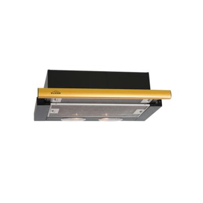 Вытяжка Elikor Интегра 60П-400-В2Л чер/латунь