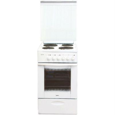 Электрическая плита Лысьва ЭП 4/1э04 МС белая,стекл. крышка