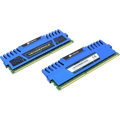 ����������� ������ Corsair DDR3 16384Mb 1600MHz RTL 2x8GB 10-10-10-27, with Vengeance Blue Heat Spreader - Core i7, Core i5 and Core 2, 1.5V CMZ16GX3M2A1600C10B