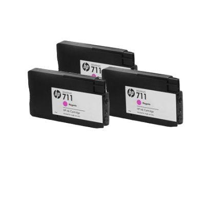 Картридж HP 711 Magenta/Пурпурный 3 шт. (CZ135A)