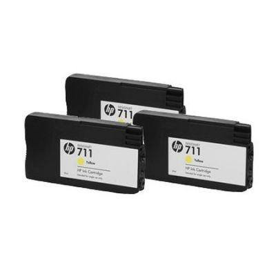 Картридж HP 711 Yellow/Желтый 3 шт. (CZ136A)