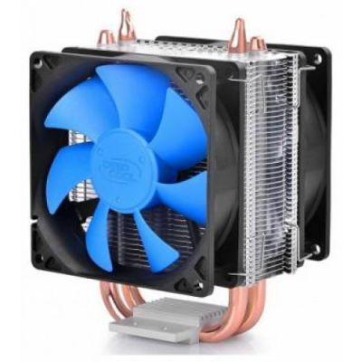 Кулер для процессора Deepcool 4pin 18-30dB Al+Cu 130W 390g скоба Dual-90mm-fan RTL ICEBLADE200M