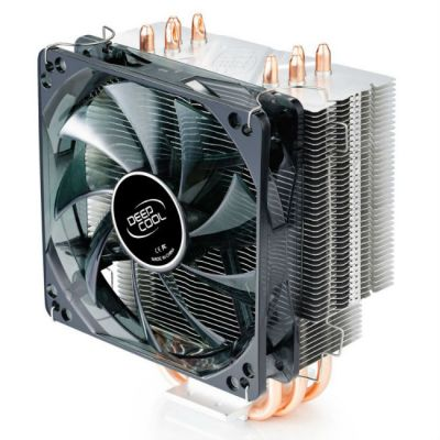 Кулер для процессора Deepcool Soc-2011/1155/AM3/FM1/FM2 4pin 21-32dB Al+Cu 130W 709g голубой LED GAMMAXX400