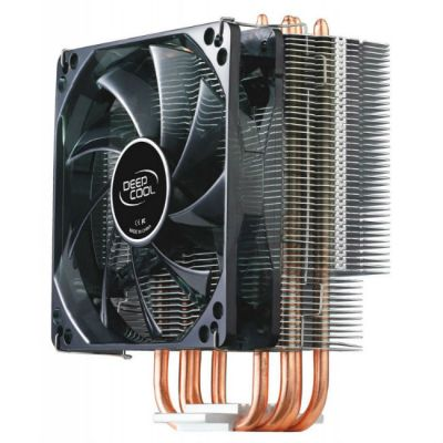 ����� ��� ���������� Deepcool Soc-2011/1155/AM3/FM1/FM2 4pin 21-32dB Al+Cu 130W 709g ������� LED GAMMAXX400