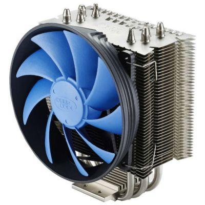 Кулер для процессора Deepcool Soc-2011/1150/1155/AM3+/FM1/FM2 4pin 18-21dB Al+Cu 130W 610g клипсы GAMMAXXS40