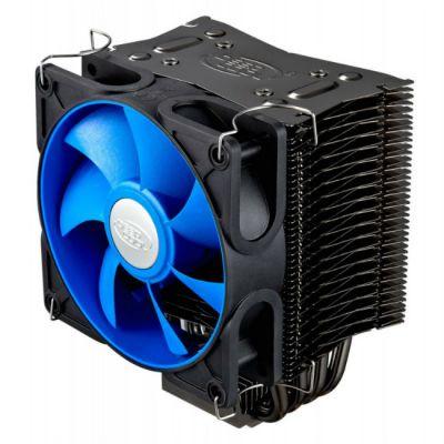 Кулер для процессора Deepcool Soc-1150/1155/1156/AM3+/FM1/FM2 4pin 18-28dB Al+Cu 130W 585g винты ICEEDGE400XT
