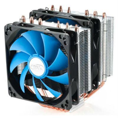 Кулер для процессора Deepcool Soc-FM2/AM3+/1150/2011/ 4-pin 17.8-30dB Al LED Ret NEPTWINV2