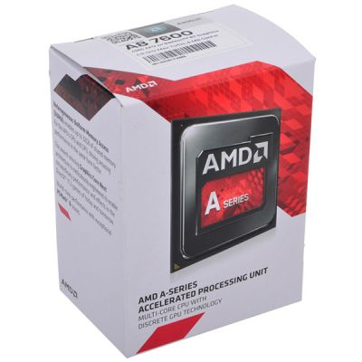 ��������� AMD A8 7600 FM2+ (3.1GHz/5000MHz/4Mb/AMD Radeon R7) Box AD7600YBJABOX