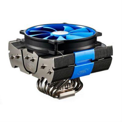 Кулер для процессора Deepcool Soc-2011/1150/1155/AM3/FM1/FM2 4pin 18-32dB Al+Cu 150W 1-2kg винты FIENDSHARK