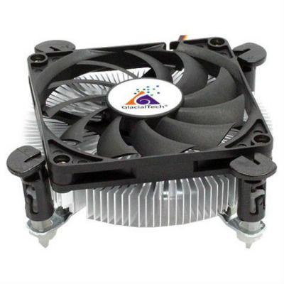 Кулер для процессора GlacialTech Igloo PWM Soc-1150/1155/1156/ 4pin 18-35dB Al 65W 160g клипсы low-profile BULK CD-I620WSP0DBR001