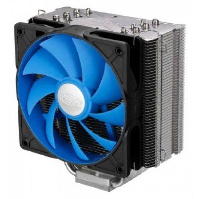 Кулер для процессора Deepcool Soc-2011/1150/1155/AM3+/FM1/FM2 4pin 18-28dB Al+Cu 150W 1kg винты ICEWARRIOR