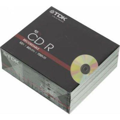 Диск TDK CD-R CD-R80SCA10-L