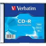 Диск Verbatim CD-R 700Mb 52x Slim case (1шт) 43347