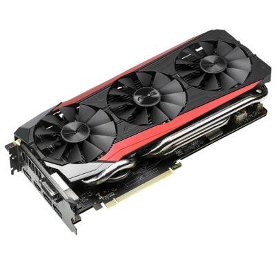���������� ASUS nVidia GeForce GTX 980TI 6144Mb 384bit GDDR5 1291/7200 DVIx1/HDMIx1/DPx3/HDCP Ret STRIX-GTX980TI-DC3OC-6GD5-GAMING