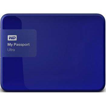 """Внешний жесткий диск Western Digital Original USB 3.0 3Tb My Passport Ultra (5400 об/мин) 2.5"""" синий WDBNFV0030BBL-EEUE"""