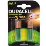 Батарейки Duracell аккумулятор 1300mAh AA 2 шт. HR6-2BL