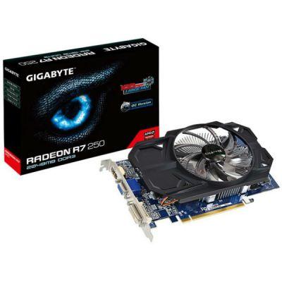 Видеокарта Gigabyte PCI-E AMD Radeon R7 250 2048Mb 128bit DDR3 1050/1800 DVIx1/HDMIx1/CRTx1/HDCP Ret GV-R725OC-2GI