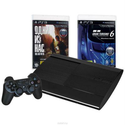 ������� ��������� Sony PlayStation 3 PS719888031 ������ + � ��������� 2 ����: Gran Turismo 6, ���� �� ���