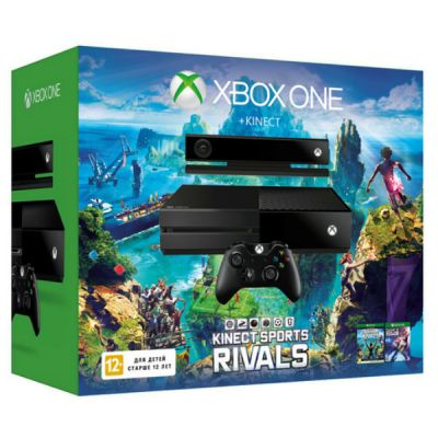 Игровая приставка Microsoft Xbox One 500 GB + Kinect + Dance Central Spotlight + Kinect Sport Rivals (7UV-00126-k)