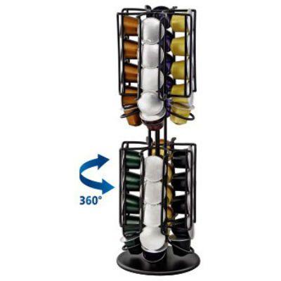 Xavax Подставка H-111114 Rondello д/капс. Nespresso 12 x 36.5 x 12 см металл черный