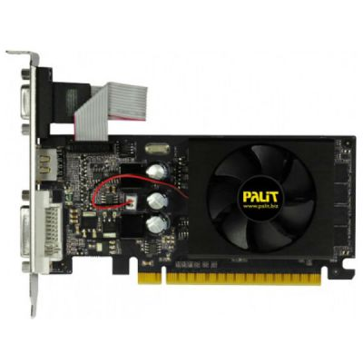 ���������� Palit PCI-E PA-GT610-2GD3 nVidia GeForce GT 610 2048Mb 64bit DDR3 810/1070 DVIx1/HDMIx1/CRTx1/HDCP oem NEAT6100HD46-1196F BULK