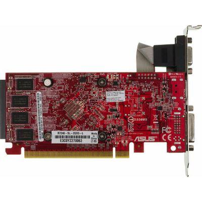 Видеокарта ASUS PCI-E AMD Radeon R7 240 2048Mb 128bit DDR3 780/1800/HDMIx1/CRTx1/HDCP Ret R7240-SL-2GD3-L