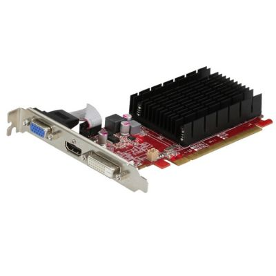 Видеокарта PowerColor PCI-E AX6450 1GBK3-SHEV3 AMD Radeon HD 6450 1024Mb 64bit DDR3 625/1334 DVIx1/HDMIx1/CRTx1/HDCP oem AX6450 1GBK3-SHEV3