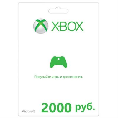 Microsoft Карта оплаты для сети Xbox LIVE 2000 рублей K4W-00120
