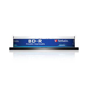 Verbatim ���� BD-R Verbatim 25Gb 6x Cake Box (10��) Printable Light Scribe (43804)