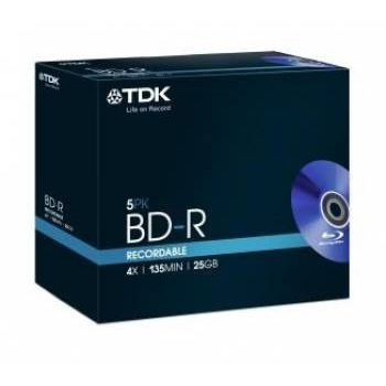 TDK ���� BD-R TDK 25Gb 4x Full Jewell case (5��) (t78008)