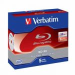 Verbatim Диск BD-RE Verbatim 25Gb 2x Jewel case (уп. 5шт) (43615)