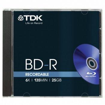 TDK Диск BD-R TDK 25Gb 6x Jewel case (5шт) (t78057)