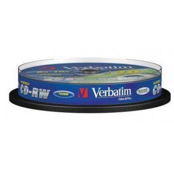 Диск Verbatim CD-RW Verbatim 700Mb 10x Cake Box DataLife+ (10шт) 43480