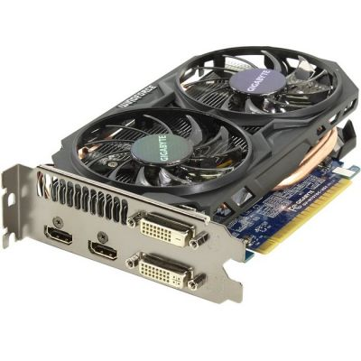 Видеокарта Gigabyte PCI-E GV-N75TOC-2GI nVidia GeForce GTX 750Ti 2048Mb 128bit GDDR5 1033/5400 DVIx1/HDMIx2/HDCP Ret GV-N75TOC-2GI