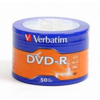 Verbatim Диск DVD-R Verbatim 4.7Gb 16x Data Life (50шт) (43791)