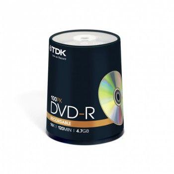 TDK Диск DVD-R 4.7Gb 16x Cake Box (100шт) (t19479)
