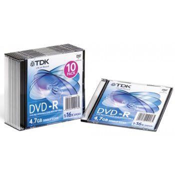 TDK ���� DVD-R 4.7Gb 16x SJC (10��) & 10C (t19420)