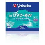 Verbatim Диски DVD-RW 4.7Gb 4x Slim Case (3шт) 43635